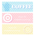 coffee blue pink color vector image vector image
