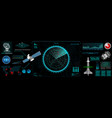 command center screen in hud style vector image vector image