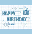 congratulations on your birthday in geometric vector image