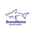 creative tech and shark logo concept vector image