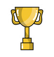cup prize symbol to winner of competition game vector image vector image