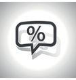 Curved percent message icon vector image vector image