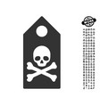 death mark icon with men bonus vector image vector image