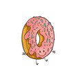 doughnut ring cartoon vector image vector image