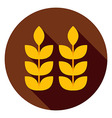 Ears of Wheat Circle Icon vector image