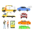 Evacuation of The car After The Crush Infographic vector image vector image