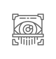 eye scan retina scanner id identity line icon vector image vector image