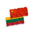 flags of lithuania and china on a white background vector image