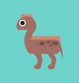flat icon on background cartoon dinosaur vector image vector image