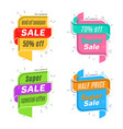 flat linear promotion ribbon banner scroll price vector image vector image