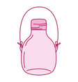 full color middle mason jar with wire handle vector image vector image