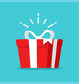 gift box present surprise symbol or magic prize vector image vector image