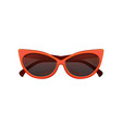 glamour cat eye sunglasses with black tinted vector image