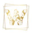 golden ornamental alphabet letter w font on white vector image