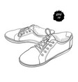hand drawn drawing sneakers vector image
