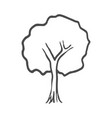hand drawn tree icon doodle vector image