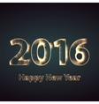 Happy new year 2016 creative greeting card design vector image