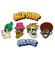 hip-hop character set vector image vector image