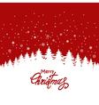 Holiday Christmas card vector image vector image