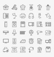household line icons vector image