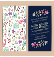 invitation cards set vector image vector image