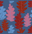 leaves pattern seamless background vector image