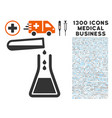 liquid transfusion icon with 1300 medical business vector image