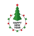 logo for the new year vector image