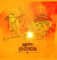 lord ram killing ravan in dussehra festival vector image