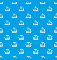 military ship pattern seamless blue vector image vector image