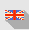 official united kingdom flag with long shadow vector image
