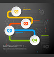 one two three four - progress template vector image vector image