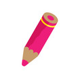 pink pencil vector image vector image