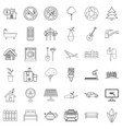 plug icons set outline style vector image vector image