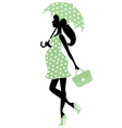 Pregnant lady with umbrella vector | Price: 1 Credit (USD $1)