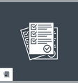 questionnaire related glyph icon vector image
