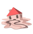 real estate market meltdown vector image vector image