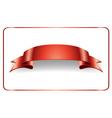Red ribbon satin bow vector image vector image