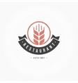 Restaurant Logo Template Design Element vector image vector image