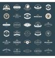 Retro Vintage Logotypes or insignias set vector image vector image
