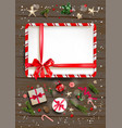 rustic wood frame vector image vector image