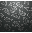Seamless black leaves background vector image vector image