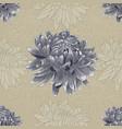 seamless blue chrysanthemum pattern vector image vector image