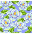 Seamless pattern with magnolia flowers Bright vector image vector image