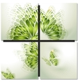 Set of eco icons Look green vector image