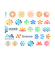 set science logo templates creative dotted vector image vector image