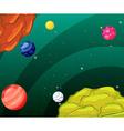 Space scene vector image
