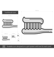 Toothbrush line icon vector image vector image