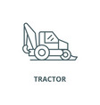 tractor line icon linear concept outline vector image vector image