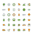 Travel and transportation flat design icon set Map vector image vector image